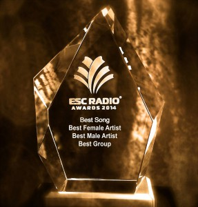 ESC Radio Awards trophy