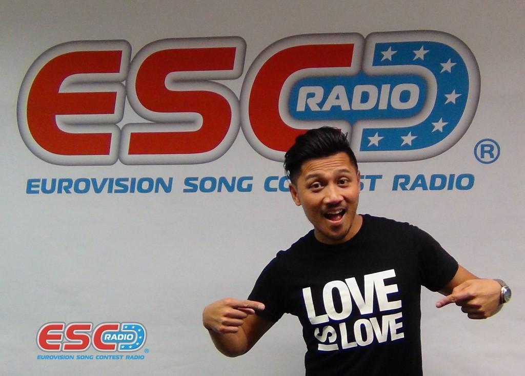 Andy Roda (Dansk MGP) visits ESC Radio studio