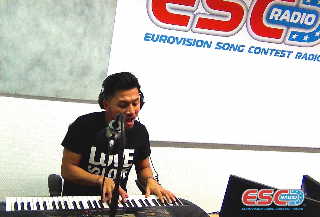 Andy Roda (Dansk MGP) performing Love Is Love a cappella on ESC Radio