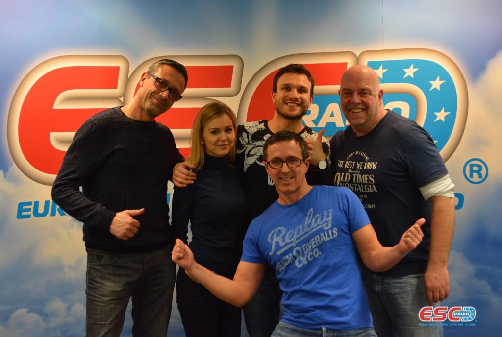 12Monika Linkytė & Vaidas Baumila with ESC Radio team
